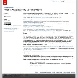 Acrobat XI Accessibility Documentation « Adobe Accessibility