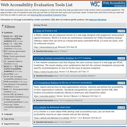 Web Accessibility Evaluation Tools: Overview