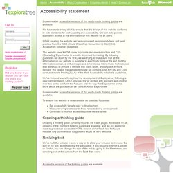 Accessibility statement - Exploratree by FutureLab