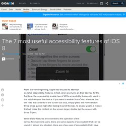 The 7 most useful accessibility features of iOS 8