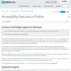 Accessibility Features in Firefox