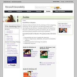 Accessibility Guide for Educators