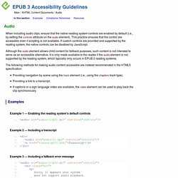 EPUB 3 Accessibility Guidelines