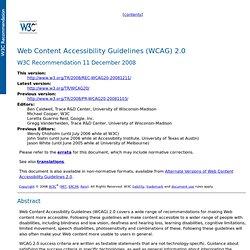 W3C WCAG 2.0