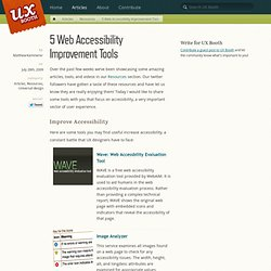 5 Web Accessibility Improvement Tools