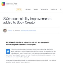 230+ accessibility improvements added to Book Creator