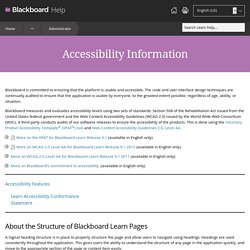 Accessibility Information - Blackboard Help