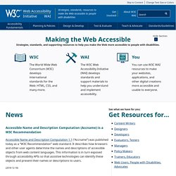 Web Accessibility Initiative (WAI) - home page