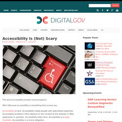 Accessibility Is (Not) Scary