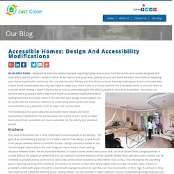 Accessible Homes: Design And Accessibility Modifications