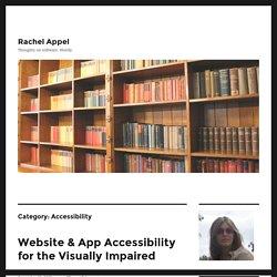Accessibility – Rachel Appel