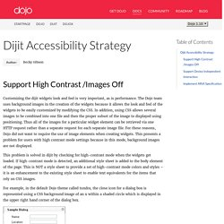 Dijit Accessibility Strategy — The Dojo Toolkit - Reference Guide
