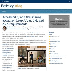 Accessibility and the sharing economy: Leap, Uber, Lyft and ADA requirements