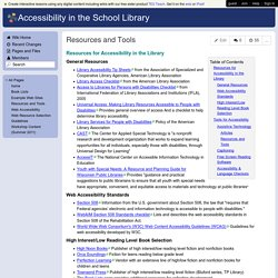 Accessibility in the School Library - Resources and Tools