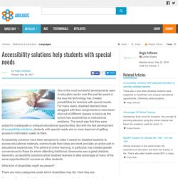 Accessibility solutions help students with special needs