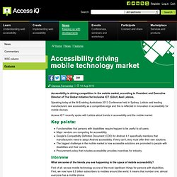 Accessibility driving mobile technology market
