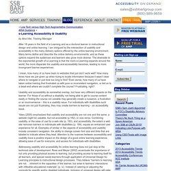 e-Learning Accessibility & Usability