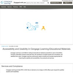 Accessibility and Usability – Cengage Learning