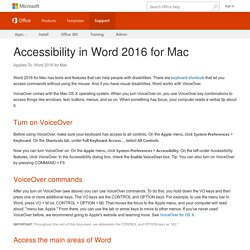 Accessibility in Word 2016 for Mac - Word for Mac