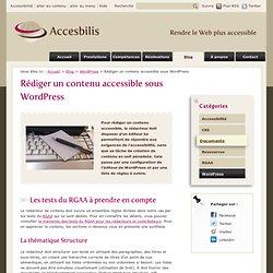 Rédiger un contenu accessible sous WordPress - Accesbilis - Conseil formation Web et accessibilité numérique