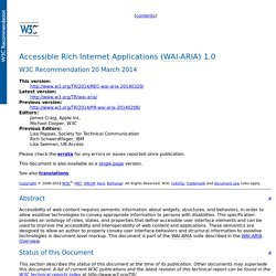 Accessible Rich Internet Applications (WAI-ARIA) 1.0