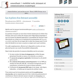 Les 4 piliers d'un Intranet accessible - Consultant e-communication
