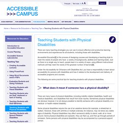 Accessible Campus » Teaching Students with Physical Disabilities