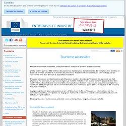 Tourisme accessible - Tourisme - Entreprises et industrie
