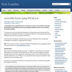 Usability.com - WCAG 2.0