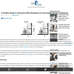 A Simple Guide to Using the ADA Standards for Accessible Design Guidelines