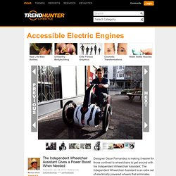 Accessible Electric Engines - The Independent Wheelchair Assistant Gives a Power Boost When Needed
