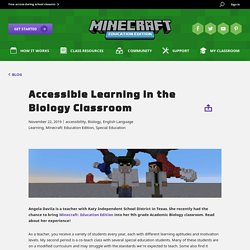 Accessible Learning in the Biology Classroom