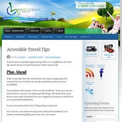 Accessible Rentals For Travel & Tips