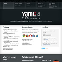 YAML CSS Framework — for truly flexible, accessible and responsive websites