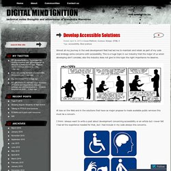 Develop Accessible Solutions