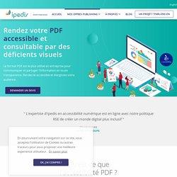 Votre PDF accessible aux non-voyants et malvoyants