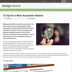 12 Tips for a More Accessible Website