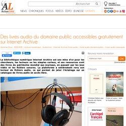 Des livres audio du domaine public accessibles gratuitement sur Internet Archive