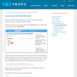 Accessing Call Detail Records