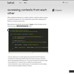 Accessing contexts from each other — Behat 3.0.12 documentation