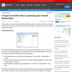 4 ways to monitor who is accessing your shared folders/files