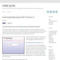Accessing Google Speech API / Chrome 11 « don't_panic