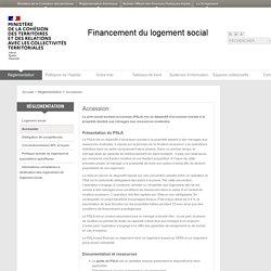 Accession - Financement du logement social