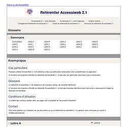 Glossaire du référentiel Accessiweb 2.1