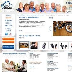 Accessoires pour fauteuils roulants. Accessoires pour chaises roulantes. Accessoire fauteuil roulant