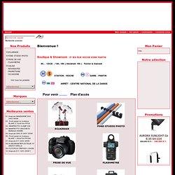 vente en ligne de matériel et accessoires pour photographe