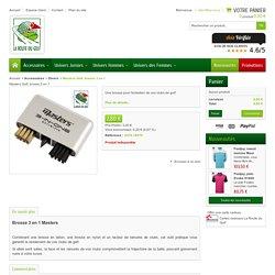 Masters - brosse 3 en 1, accessoires d'entretien pour vos clubs de golf sur www.routedugolf.com