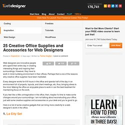 25 Creative Office Supplies and Accessories for Web Designers