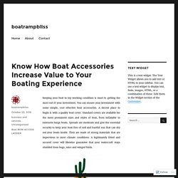 Get Boating Experience With Boat Bow Access Ladder