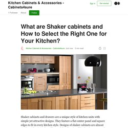 What are Shaker cabinets and How to Select the Right One for Your Kitchen?
